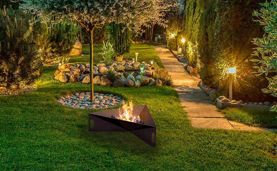 Pyramid Garden Fire Pit